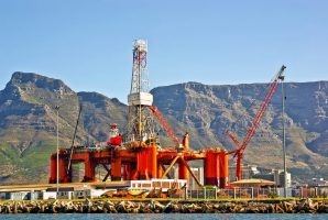 Oil rig in Cape town